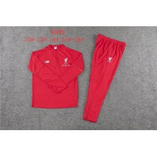 18-19 Liverpool Red kid training suit  (18-19利物浦红色童装训练服)