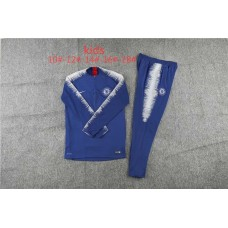 18-19 Chelsea Blue kid training suit (18-19切尔西蓝色童装训练服)