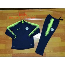 18-19 Manchester City Navy Blue Player Version Kid Training suit (18-19曼城深蓝色球员童装训练服)