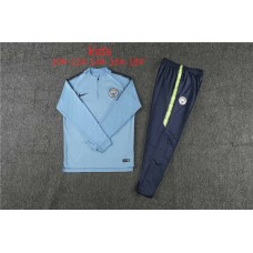 18-19 Manchester City Blue Kid Training suit (18-19曼城天蓝色童装训练服)