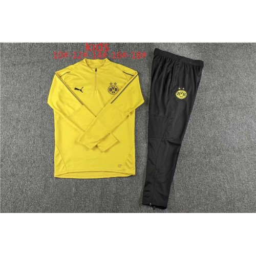 18-19 Dortmund Yellow Kid Training suit (18-19多特黄色童装训练服)