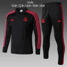 18-19 Real Madrid Black Kid Training suit (18-19皇马黑色童装训练服)