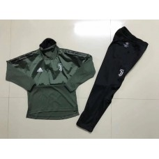 17-18 UEFA Champions League Juventus Green kid training suit (17-18欧冠尤文绿色童装训练服)