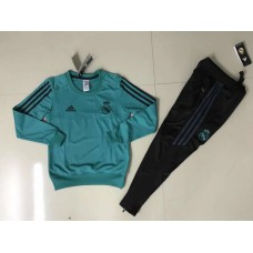 17-18 Real Madrid Green kid training suit (17-18皇马绿色童装训练服)