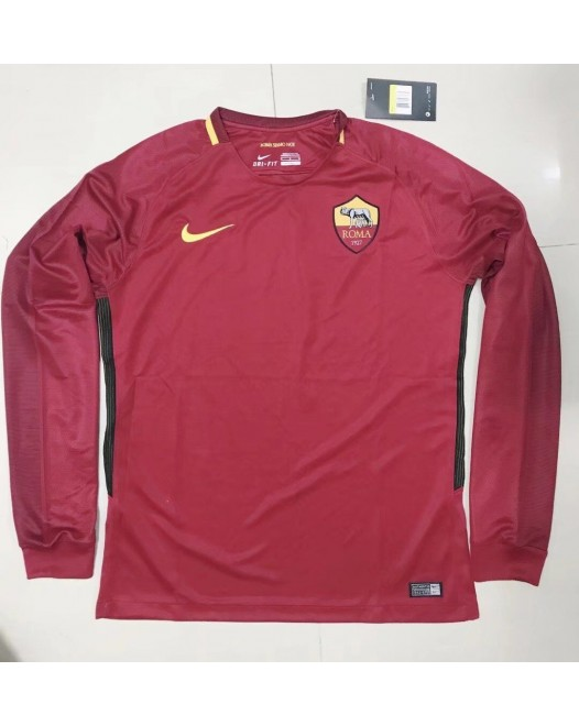 17-18 Rome Home Red Long Sleeve Thai quality (17-18罗马主场红色长袖)