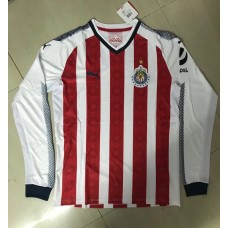 17-18 Chivas Home White and Red Long Sleeve Thai quality (17-18 芝华士主场白/红色长袖)