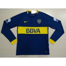 17-18 Boca Home Blue Long Sleeve Thai quality (17-18 博卡主场蓝色长袖)