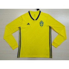2018 World Cup Sweden Home Yellow Long Sleeve  (2018世界杯瑞典主场黄色长袖)