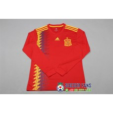 2018 World Cup Spain Home Red Long Sleeve (2018世界杯西班牙主场红色长袖)