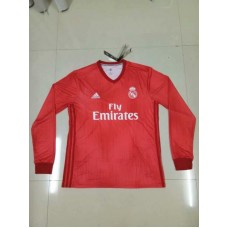 18-19 Real Madrid Third Red Long Sleeve (18-19皇马二客红色长袖)
