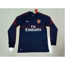 18-19 Arsenal Away Navy Blue Long Sleeve (18-19阿森纳客场深蓝色长袖)