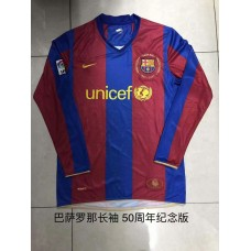 50th Anniversary Memorial Barcelona Red Blue Long Sleeve (18-19巴萨50周年纪念款红蓝色长袖)