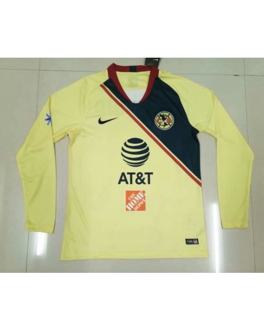 18-19 América Home Yellow Long Sleeve (18-19美洲主场黄色长袖)