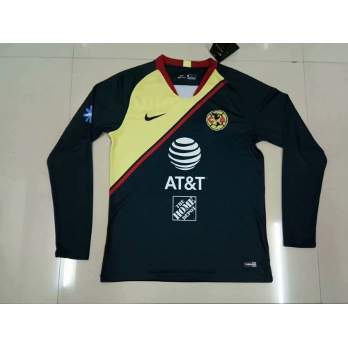 18-19 América Away Blue Long Sleeve (18-19美洲客场黑色长袖)