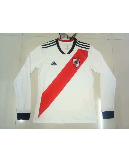 18-19 River Plate Home White Long Sleeve (18-19河床主场白色长袖)