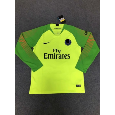18-19 Paris Green Long Sleeve Goal Keeper Jersey (18-19巴黎绿色守门服长袖)