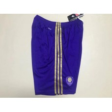 17-18 Orlando City Home Shorts (17-18 奥兰多紫色短裤)