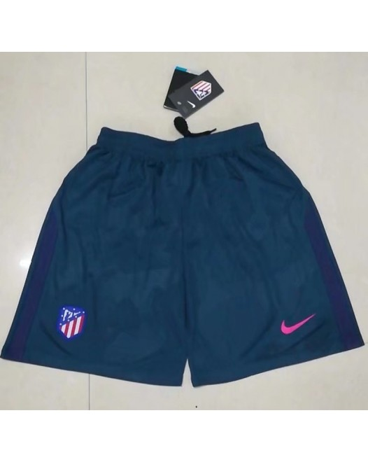 17-18 Atlético Madrid Third Blue Shorts (17-18马竞二客蓝色短裤)