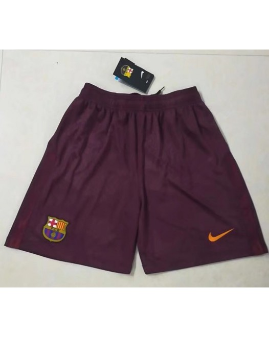17-18 Barcelona Third Red Shorts (17-18巴塞二客红色短裤)