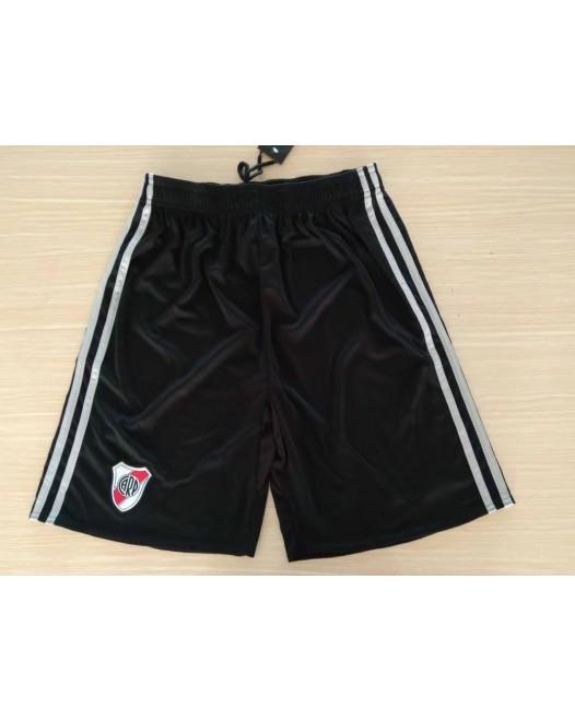 17-18 River Plate Black Shorts (17-18河床黑色短裤)