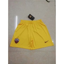 18-19 Roma Third Yellow Shorts (18-19罗马二客黄色短裤)