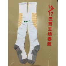 16-17 Brazil  Home Sock,Thai Quality