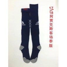 17-18 Ajax Away Socks,Thai Quality (17-18 阿贾克斯客场袜子)