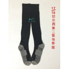 17-18 Chelsea Third Black Socks,Thai Quality (17-18 切尔西二客场黑色袜子)