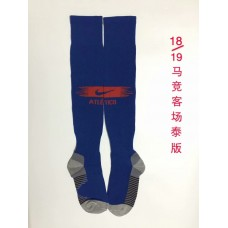 18-19 Atlético Madrid Away Blue Socks (18-19马竞客场蓝色袜子)